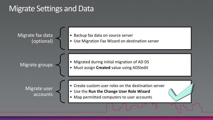 Migrate Settings and Data