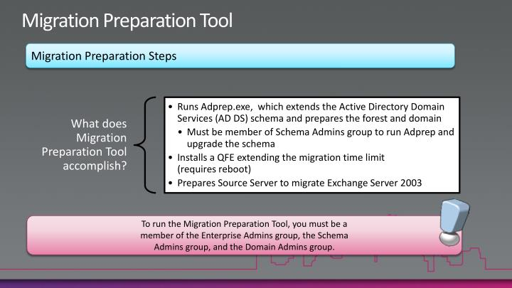 Migration Preparation Tool
