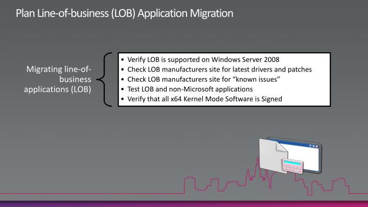 Plan Line-of-business (LOB) Application Migration