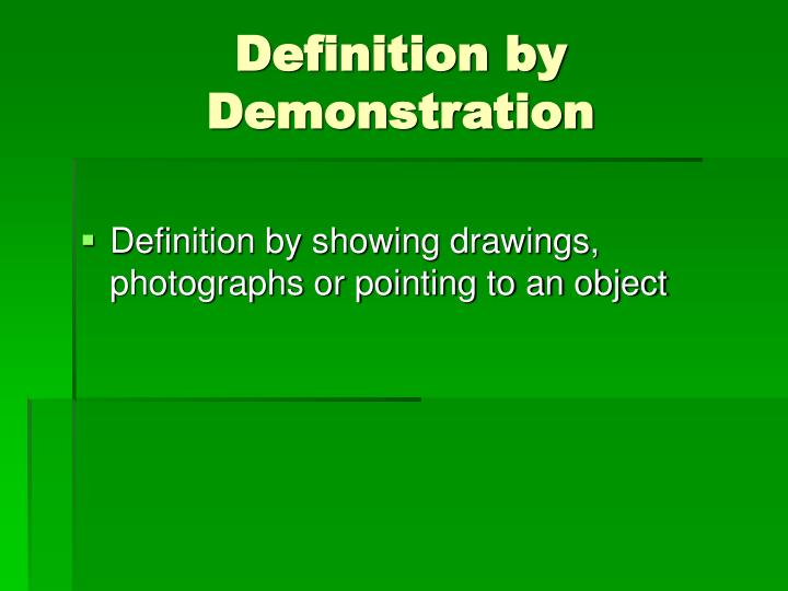 Definition by Demonstration