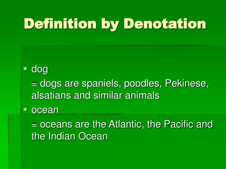 Definition by Denotation