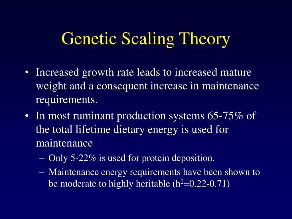Genetic Scaling Theory