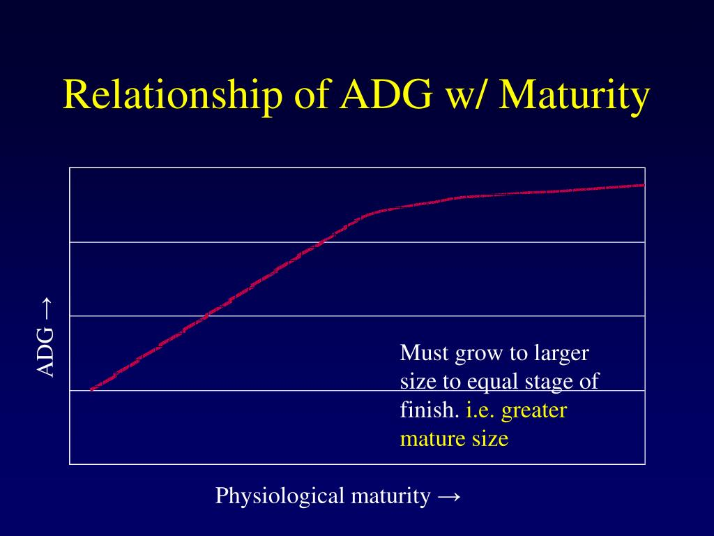 Relationship of ADG w/ Maturity