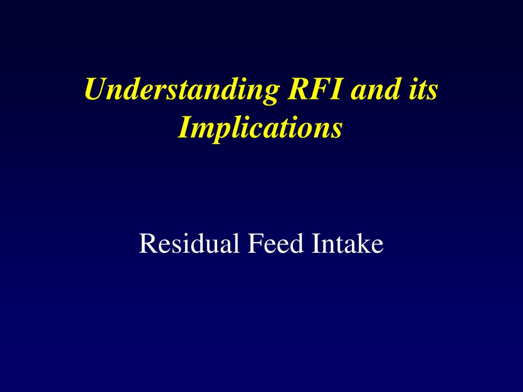 Understanding RFI and its Implications