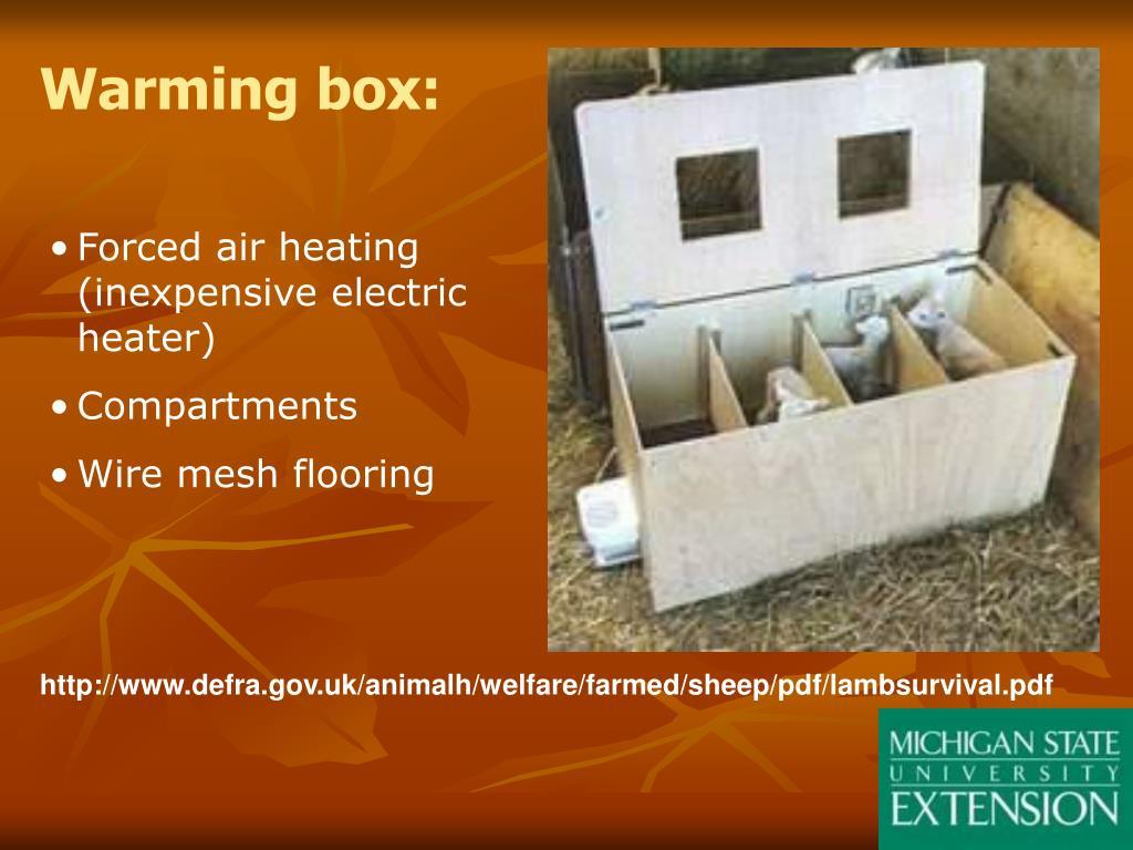 Warming box: