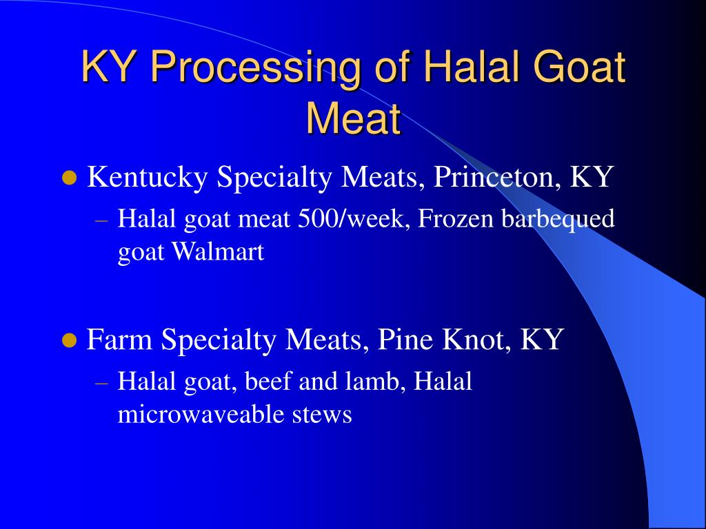 KY Processing of Halal Goat Meat