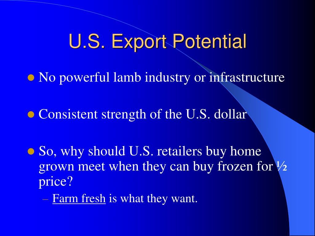 U.S. Export Potential
