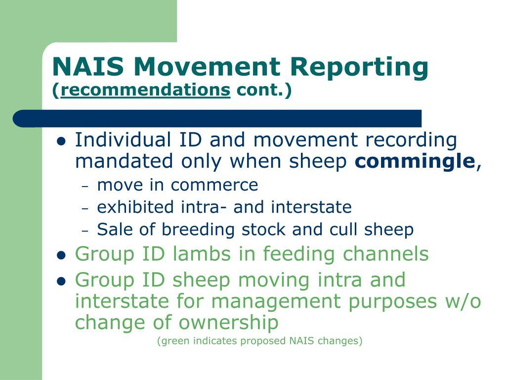 NAIS Movement Reporting