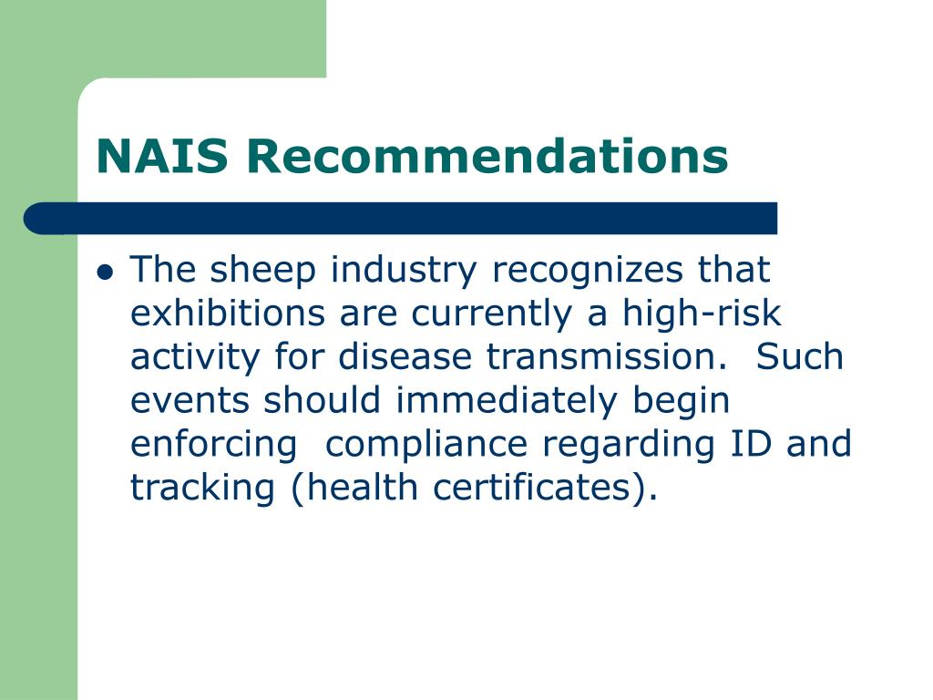 NAIS Recommendations