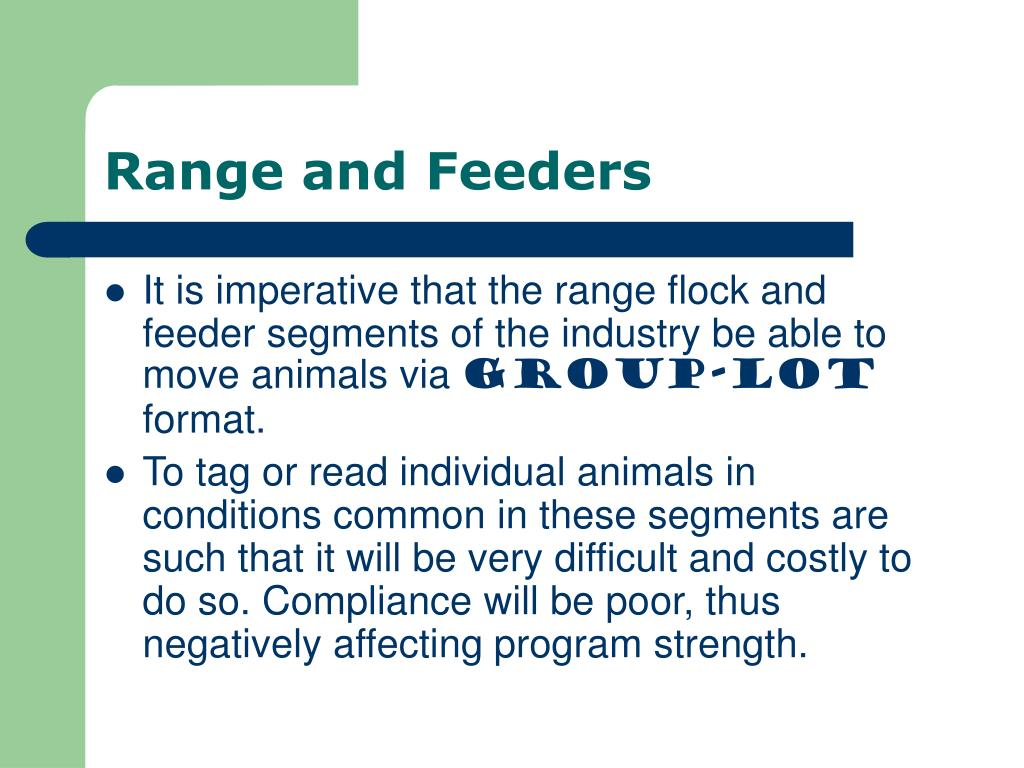 Range and Feeders