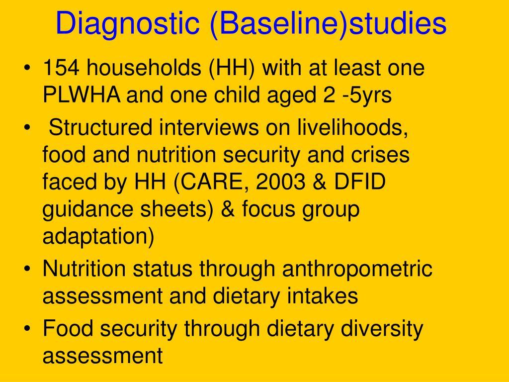 Diagnostic (Baseline)studies