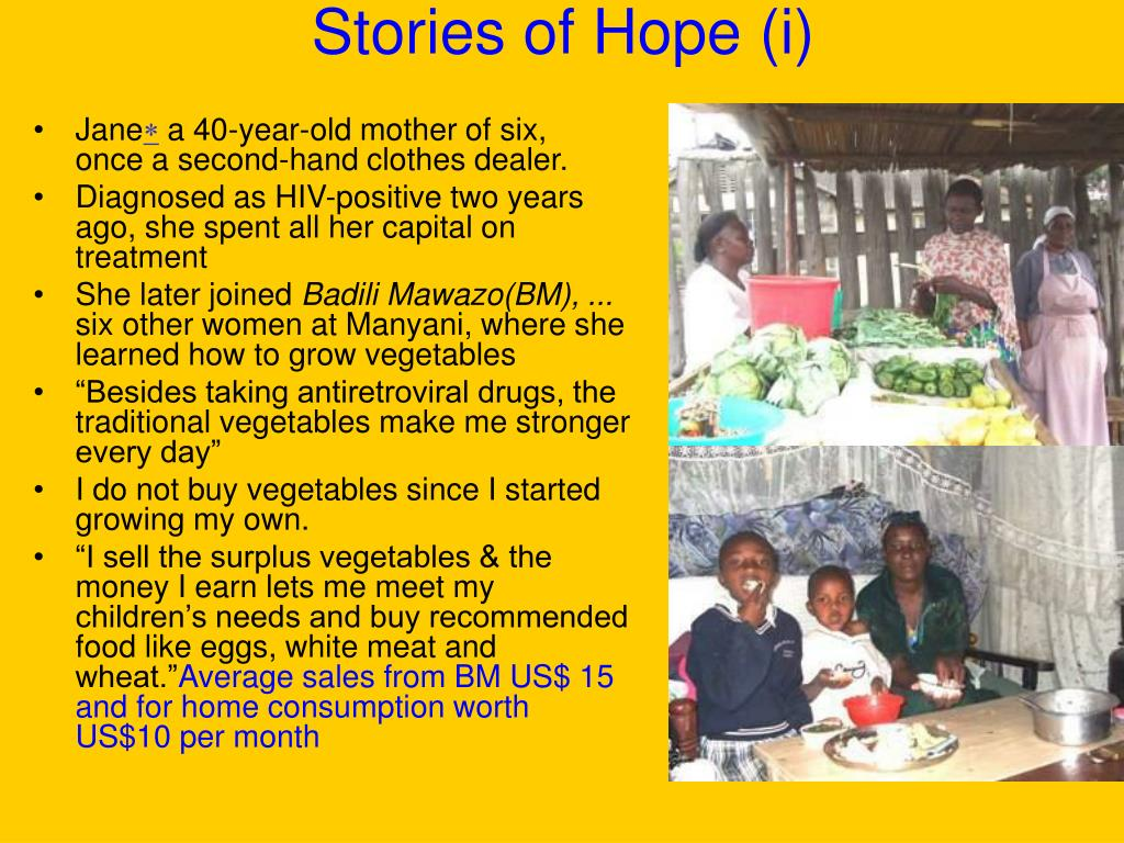 Stories of Hope (i)