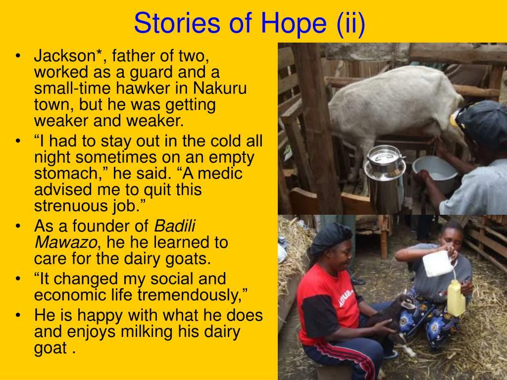Stories of Hope (ii)
