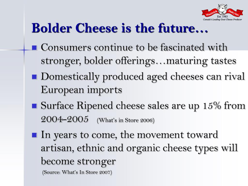 Bolder Cheese is the future…