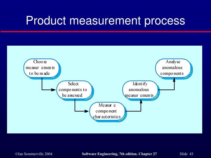 Product measurement process