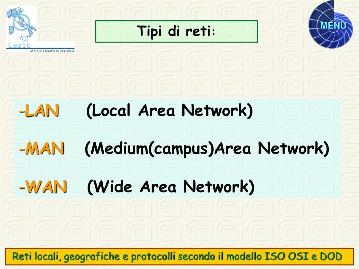 Tipi di reti