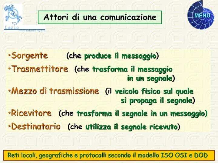 Attori di una comunicazione