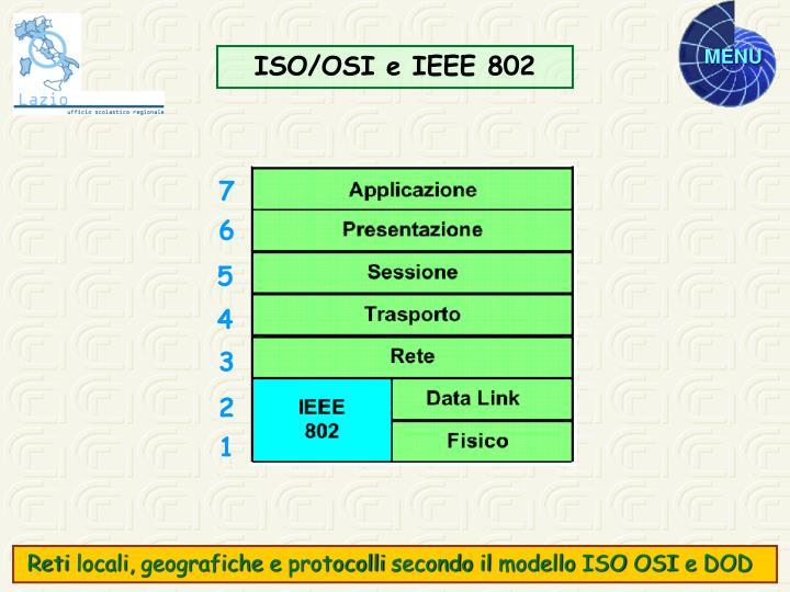 ISO/OSI e IEEE 802