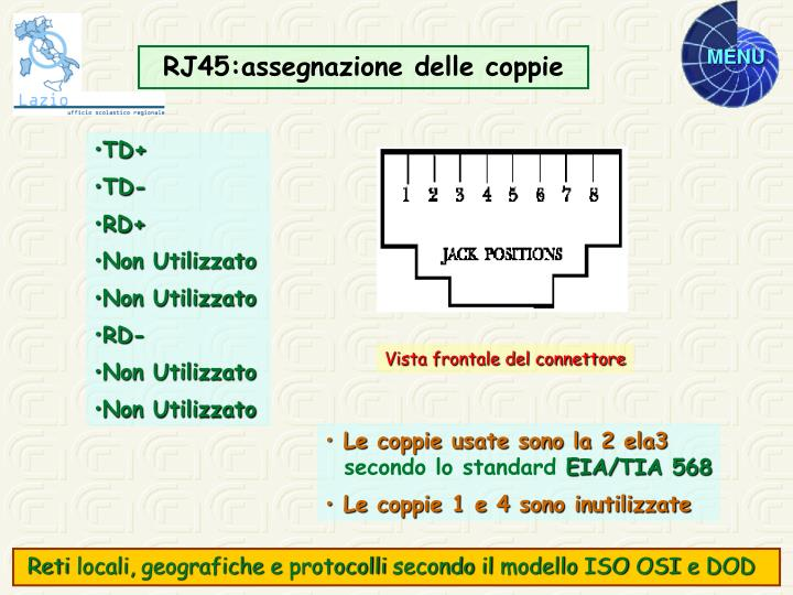RJ45:assegnazione delle coppie