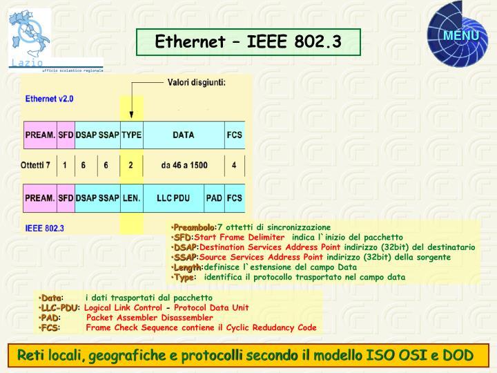 Ethernet – IEEE 802.3