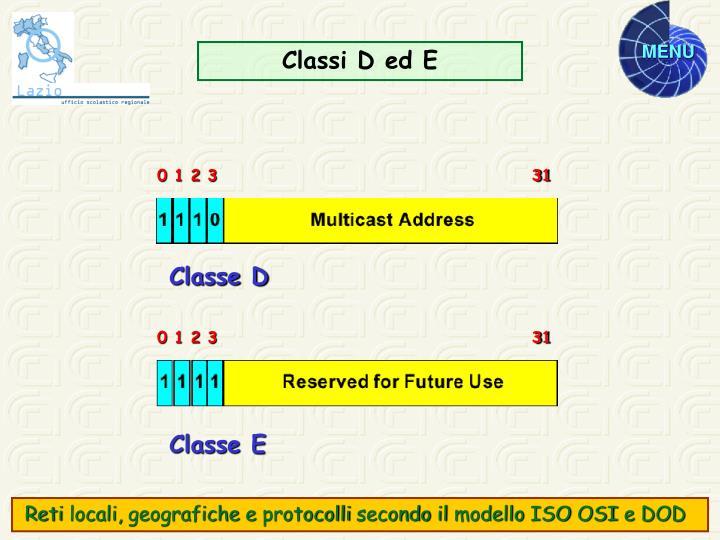 Classi D ed E