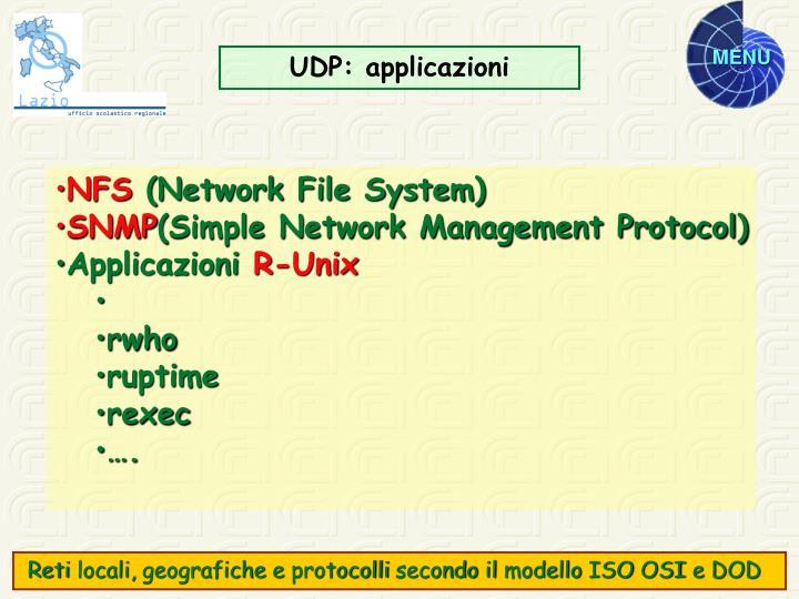 UDP: applicazioni