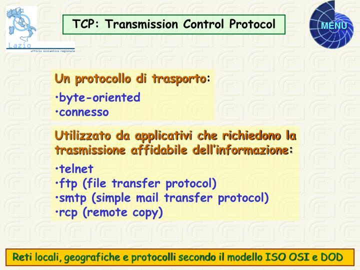 TCP: Transmission C