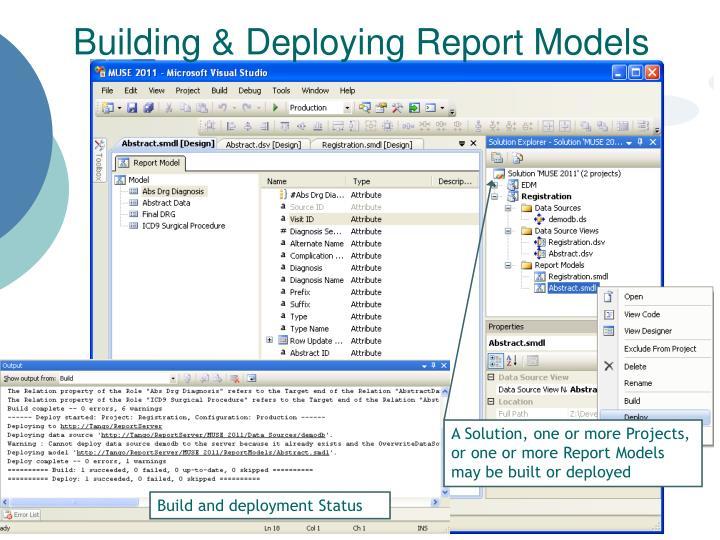 Building & Deploying Report Models