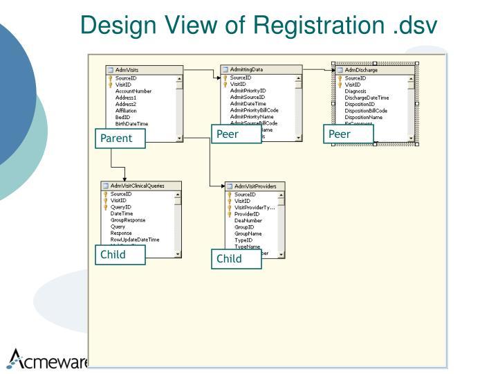 Design View of Registration .dsv