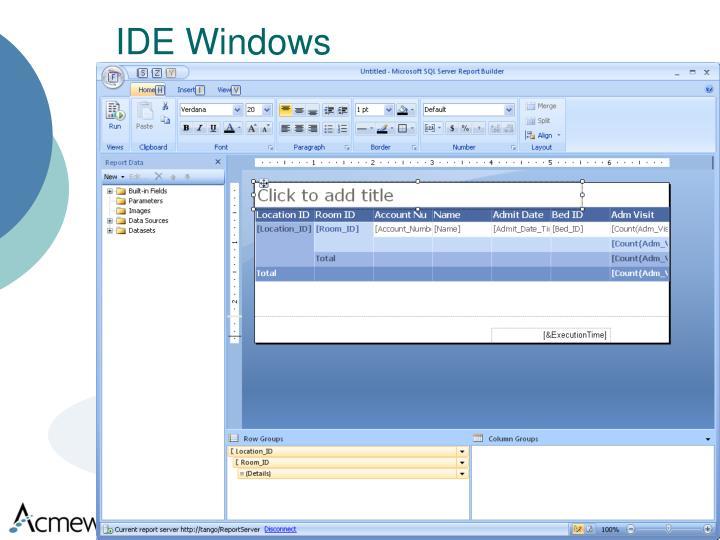 IDE Windows