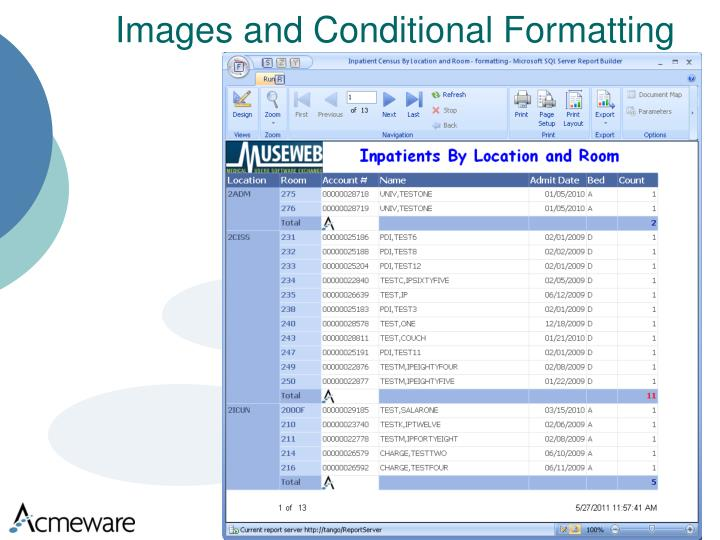 Images and Conditional Formatting