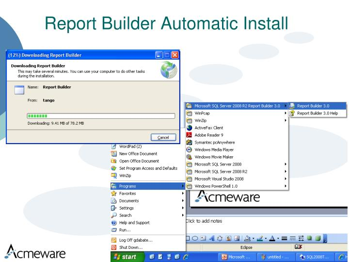 Report Builder Automatic Install