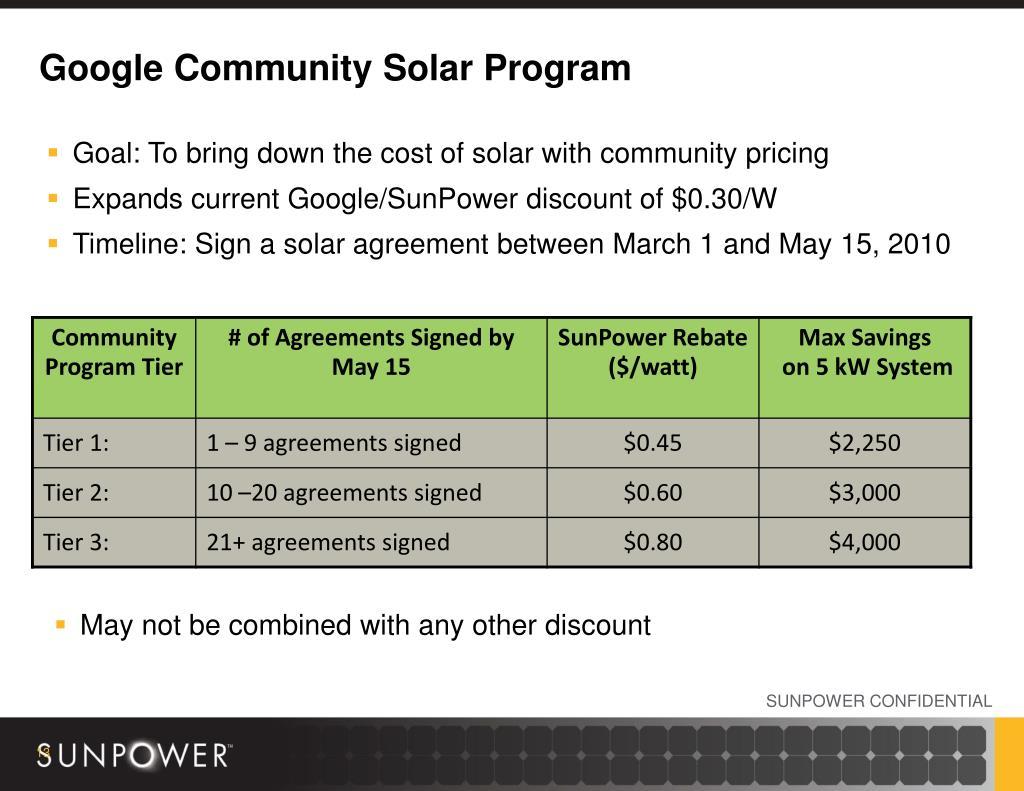 Google Community Solar Program