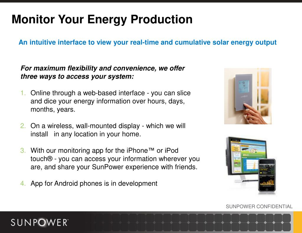 Monitor Your Energy Production