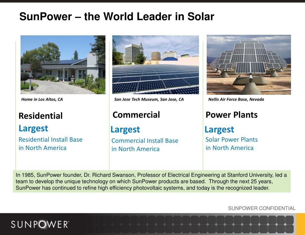 SunPower – the World Leader in Solar