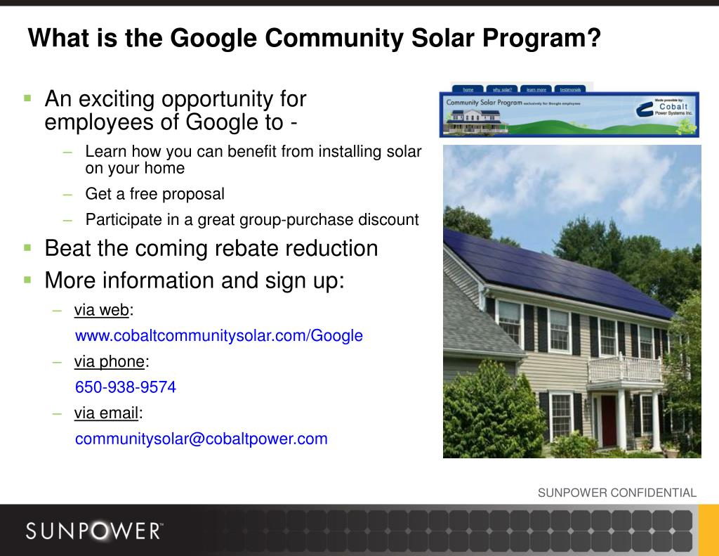 What is the Google Community Solar Program?