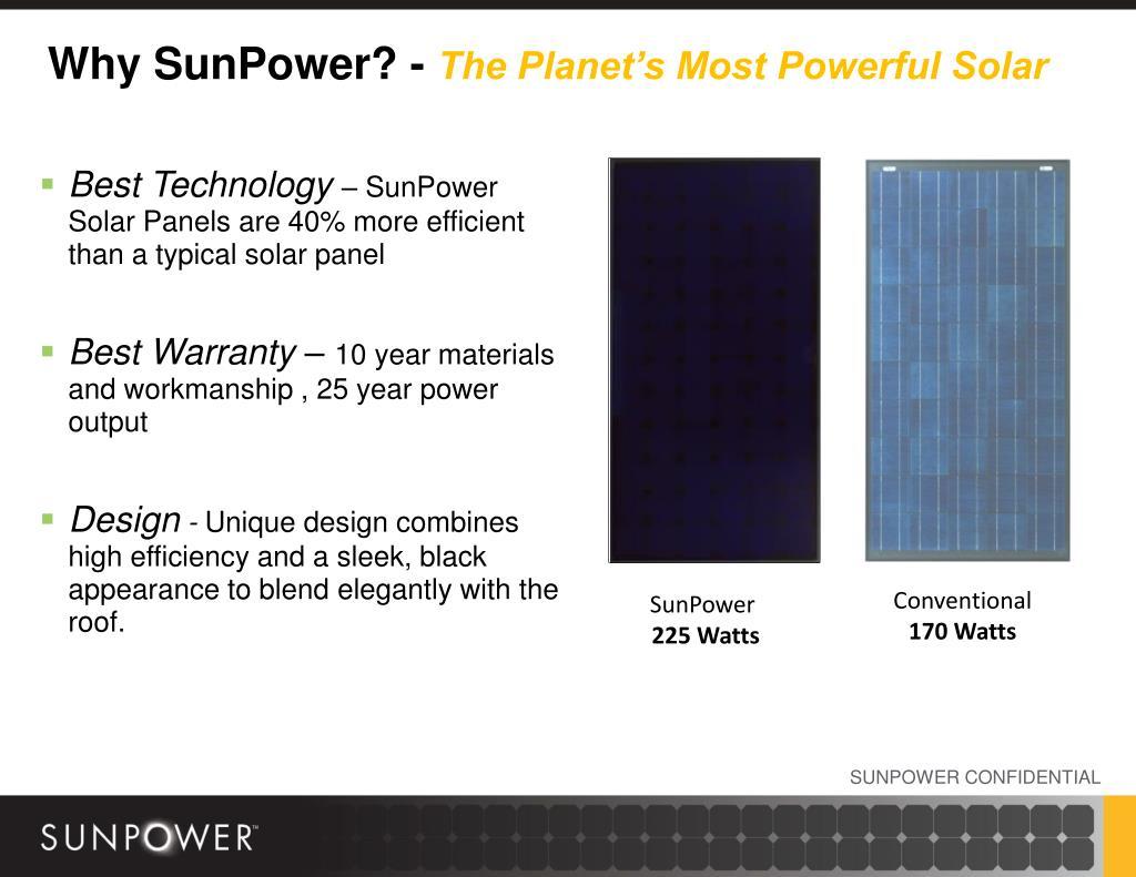 Why SunPower? -