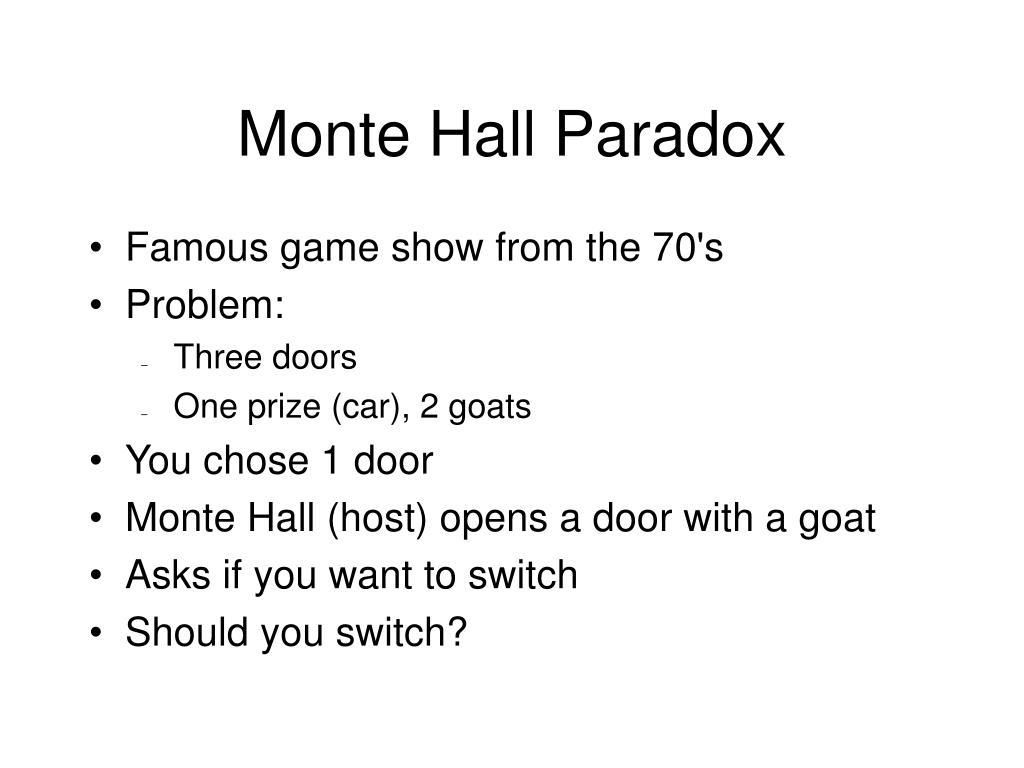 Monte Hall Paradox