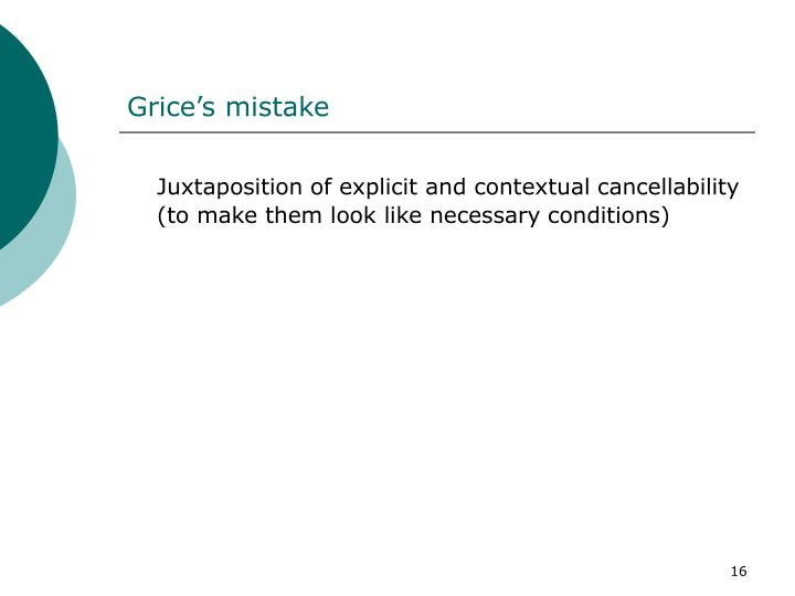 Grice's mistake