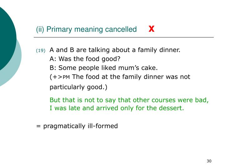 (ii) Primary meaning cancelled