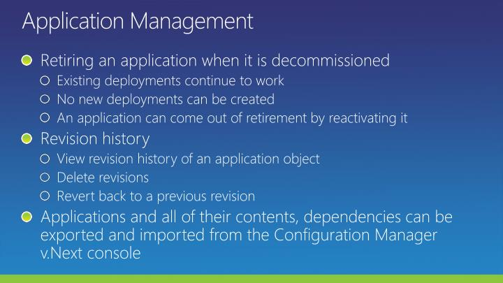Application Management