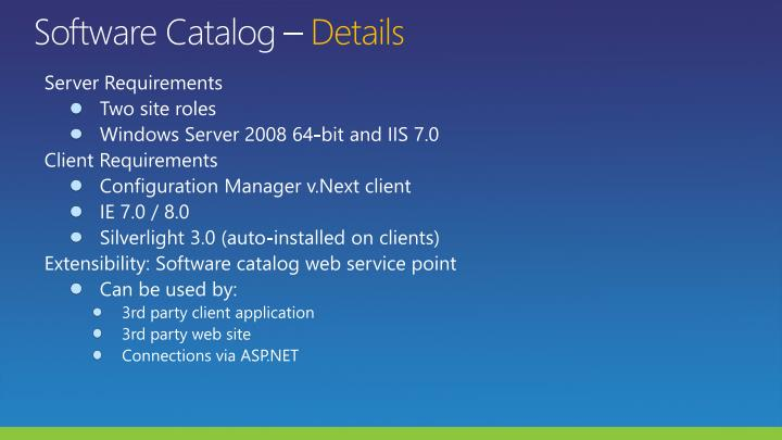 Software Catalog –
