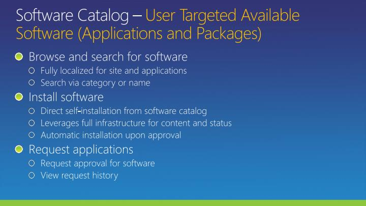 Software Catalog
