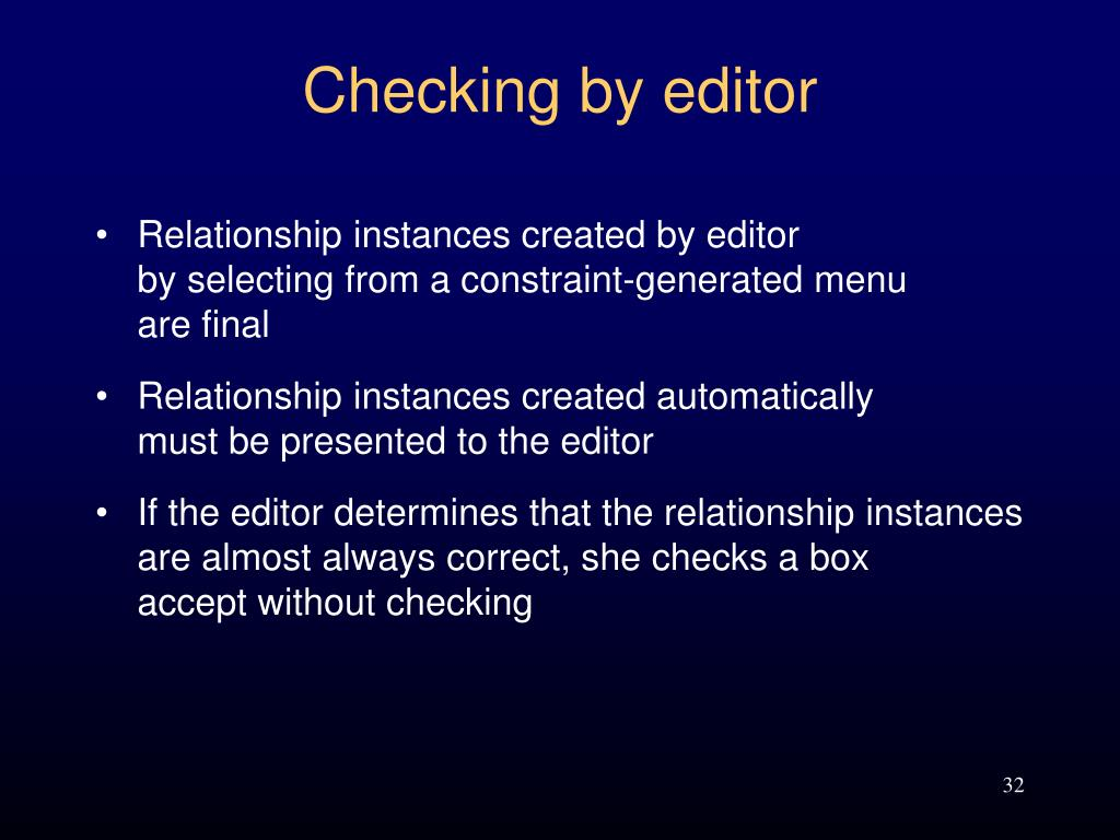 Checking by editor
