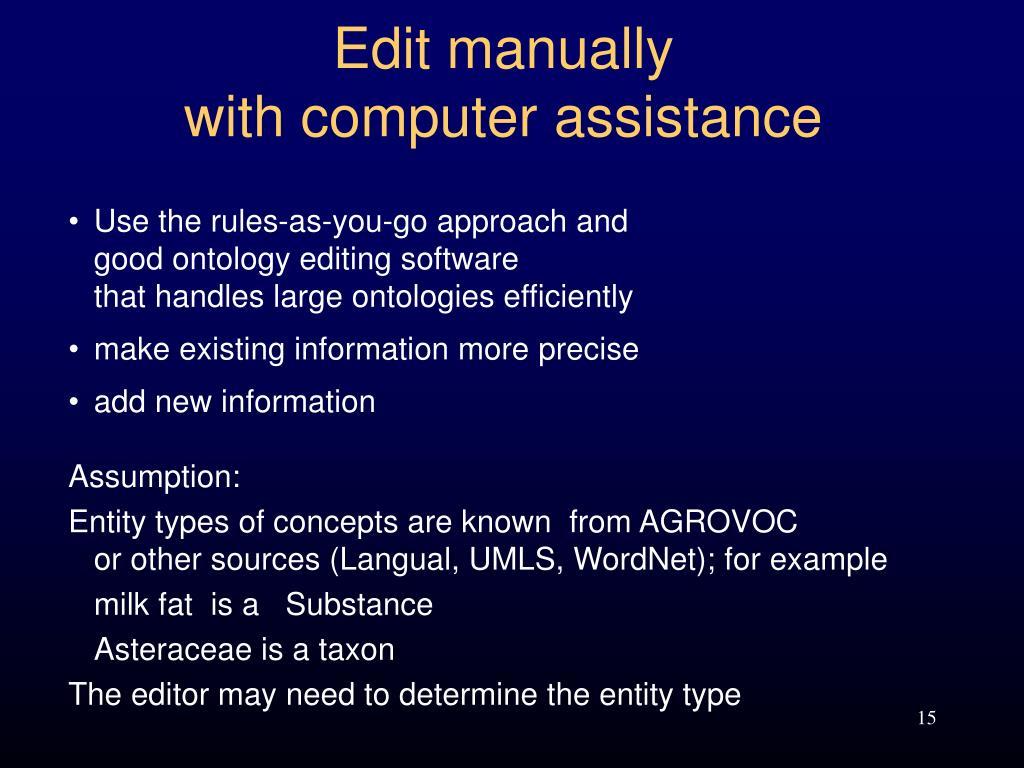 Edit manually