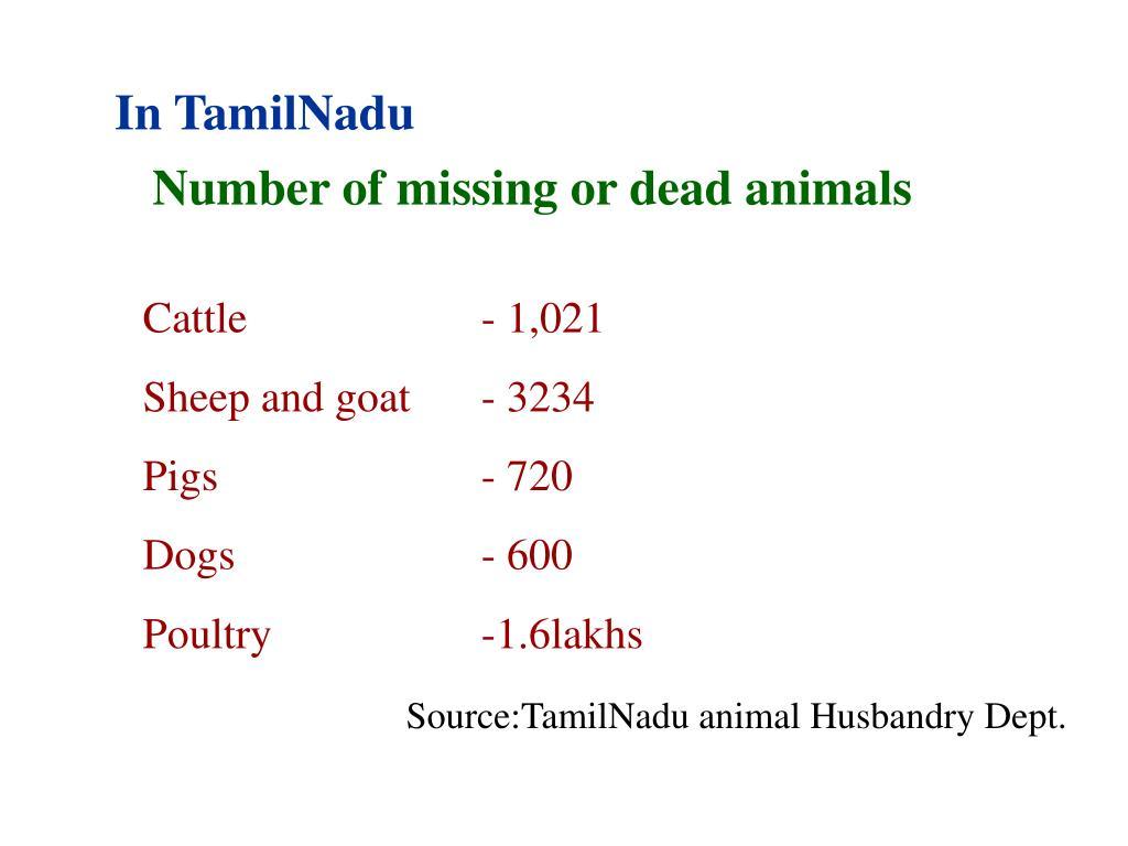 In TamilNadu