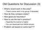 old questions for discussion 3