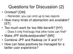 questions for discussion 2