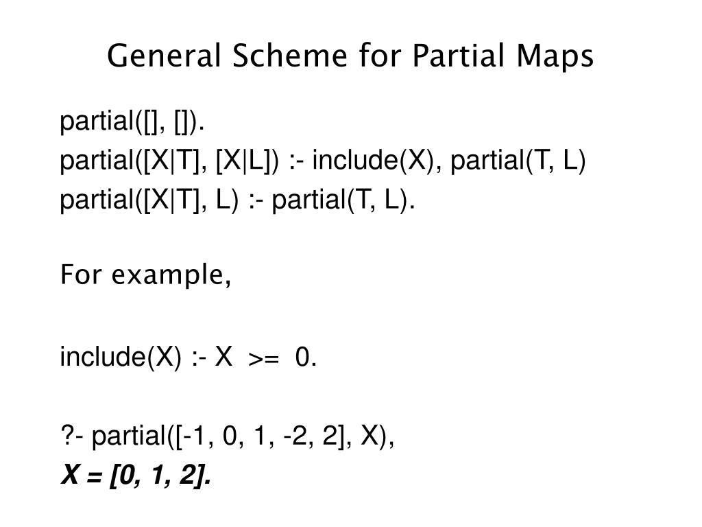 General Scheme for Partial Maps
