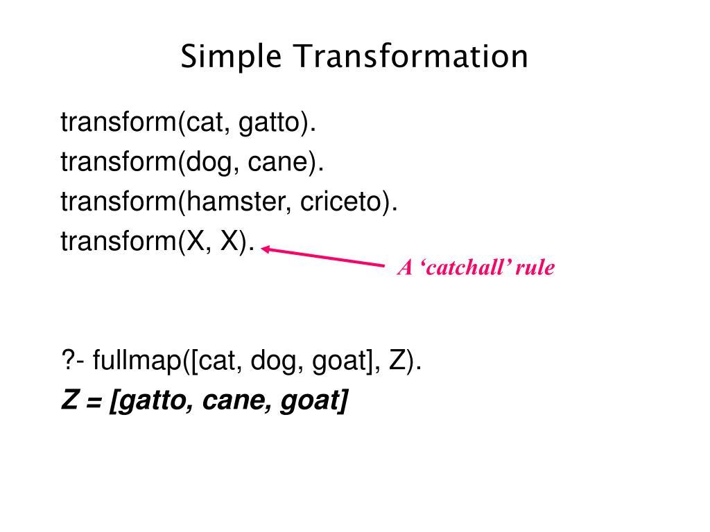 Simple Transformation